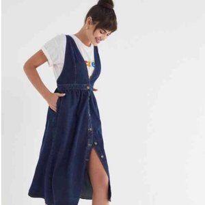 Urban Outfitters Danny Plunge Denim Midi Dress